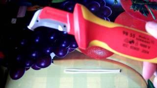 Нож KNIPEX  для электромонтажа(Высококачественный инструмент для электромонтажника., 2012-02-09T13:26:09.000Z)