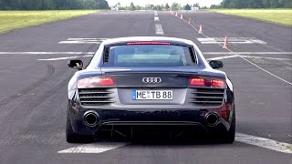 LOUD AUDI R8 V10 PLUS - LAUNCH CONTROL SOUNDS!