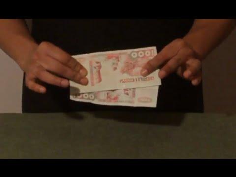 تعلم العاب الخفة # 466  الورقتين النقديتين .... magic trick revealed