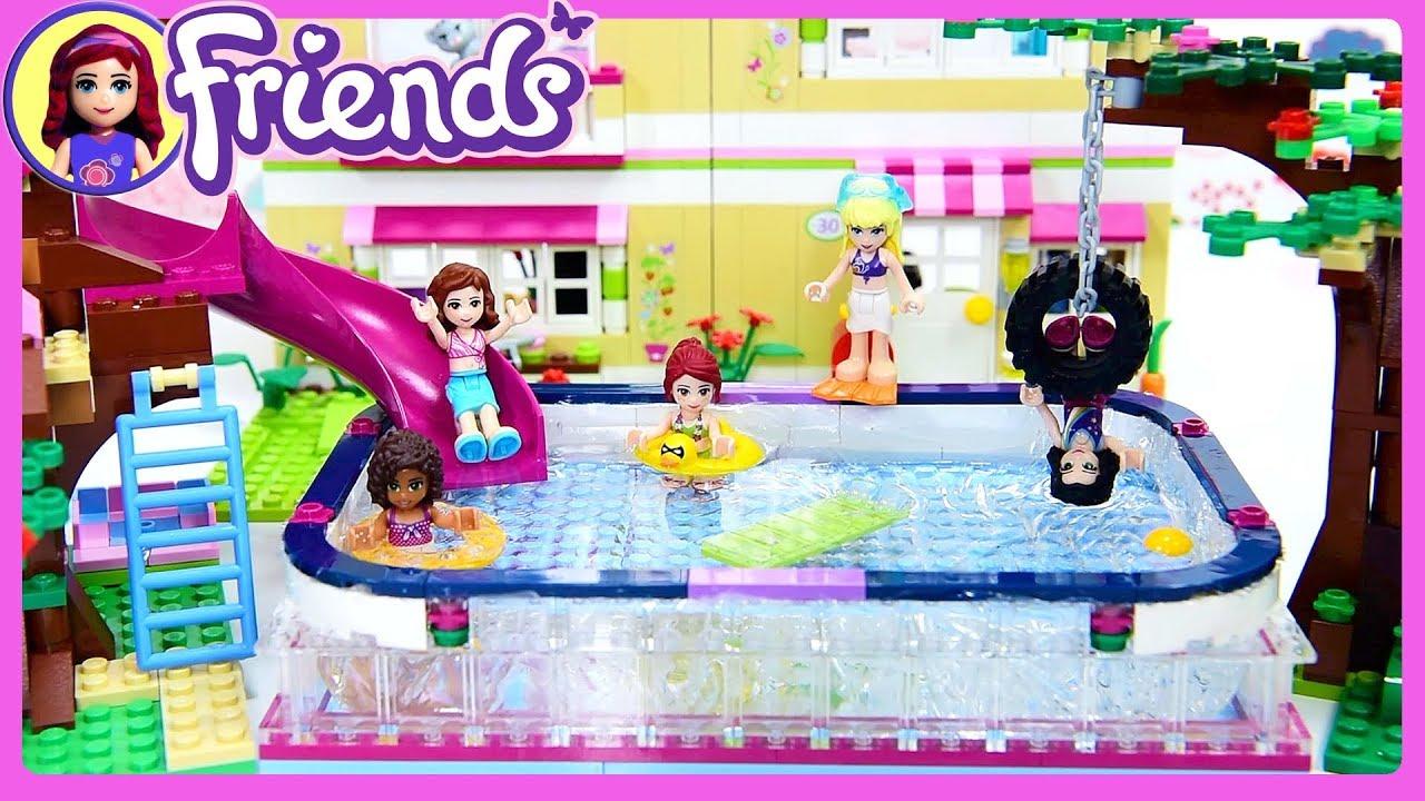 Lego friends big swimming pool in olivia 39 s backyard custom for Olivia s garden pool