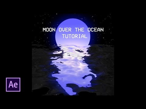 Moon With Water Reflection Tutorial | After Effects