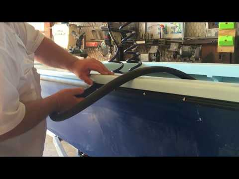 James, installing his Tessilmare R30 Rubrail on his 18' Flats