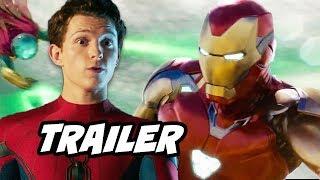 Spider-Man Far From Home Trailer - Hydro Man Scene and Avengers Endgame Ending Explained