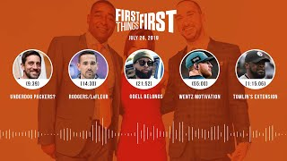 First Things First audio podcast (7.26.19)Cris Carter, Nick Wright, Jenna Wolfe | FIRST THINGS FIRST