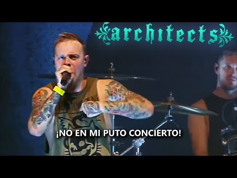 El cantante de ARCHITECTS para un concierto para denunciar agresión sexual entre el público