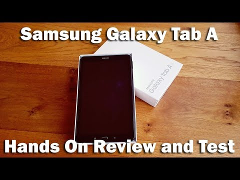 """Samsung Galaxy Tab A Tablet, Android M, 10.1"""", 16GB, Wi-Fi [Hands on Review and Test]"""