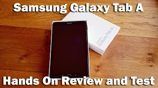 "Samsung Galaxy Tab A Tablet, Android M, 10.1"", 16GB, Wi-Fi [Hands on Review and Test]"