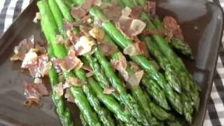 Asparagus With Ham, Garlic And Lemon