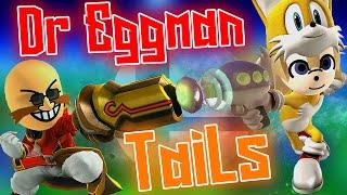 ABM: Tails Vs Eggman on Super Smash Bros Gameplay!! HD