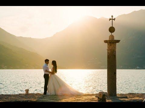 Венчание и символическая свадьба в Черногории Егора и Стеллы