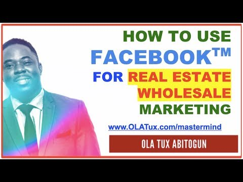How to Use Facebook Advertising for Real Estate Wholesale Investors