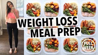 WEIGHT LOSS MEAL PREP FOR WOMEN (1 WEEK IN 1 HOUR) thumbnail