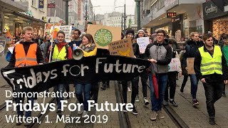 """Fridays For Future"" in Witten am 1. März 2019"