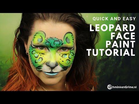 Leopard Face Paint Tutorial   Quick and Easy Face Paint   2 Minute Face Paint thumbnail