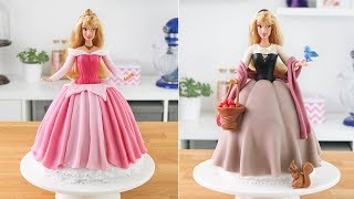 SLEEPING BEAUTY  PRINCESS AURORA DOLL CAKE || Tan Dulce