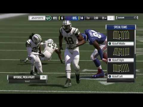 Madden 17 NFL New York Giants vs New York Jets