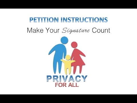 Make Your Signature Count! Petition Instructions