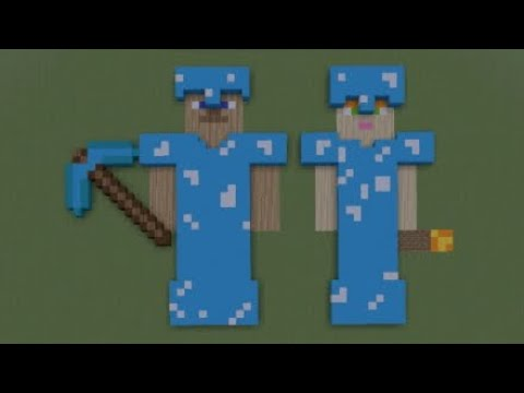 Minecraft Diamond Armor Steve Alex Pixel Art Youtube