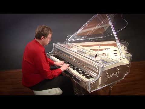 "The Kawai 'Crystal Piano', Clear Acrylic 6'1"" Player Grand Piano (Model CR-40) with PianoDisc iQ"