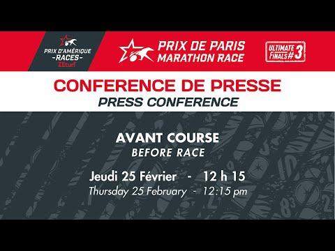 """CONFERENCE DE PRESSE D'AVANT COURSE - PRIX DE PARIS """"MARATHON RACE"""""""