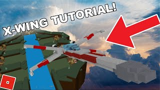 [TUTORIAL] How to make the X-WING in BUILD A BOAT!! | ROBLOX