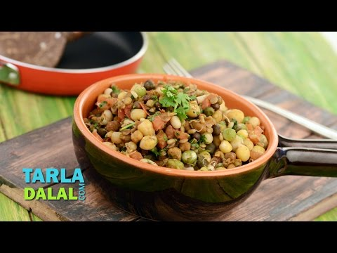 Sprouts Stir fry (Healthy Snack) by Tarla Dalal
