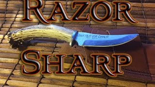 Fastest way to sharpen a DULL knife!