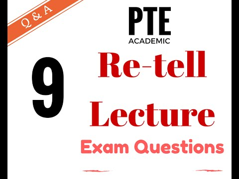 pte academic test practice re tell lecture