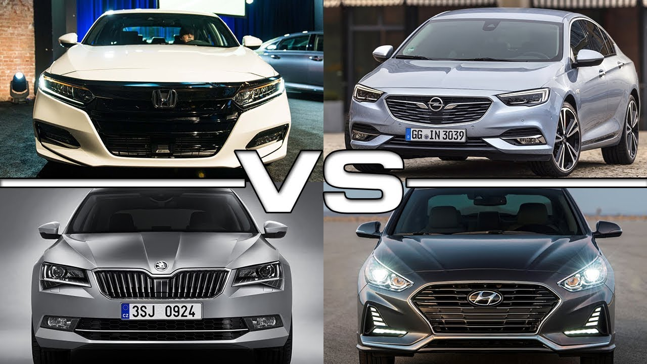 Honda Accord Vs Opel Isignia Grand Sport Vs Skoda Superb Vs Hyundai Sonata