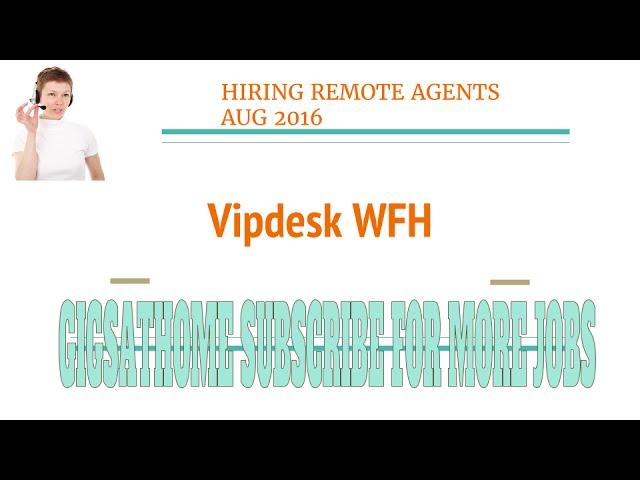 Work@Home  -VipDesk Hiring Brand Ambassadors at Home 100% Remote (US)