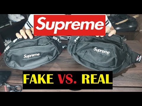 HOW TO SPOT SUPREME WAIST BAG SS18 FAKE Vs  REAL COMPARISON - YouTube