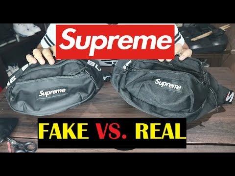 HOW TO SPOT SUPREME WAIST BAG SS18 FAKE vs  REAL COMPARISON
