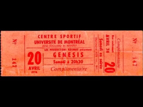 Genesis - Live at the University Sports Centre, Montreal, 21st April 1974