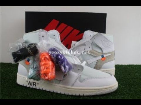 Final Update Best UA Nike Air Jordan 1 Retro OFF WHITE WHITE  :Yeezykickss.net