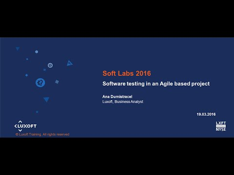 TEST LABS 2016. Software testing in an Agile based project