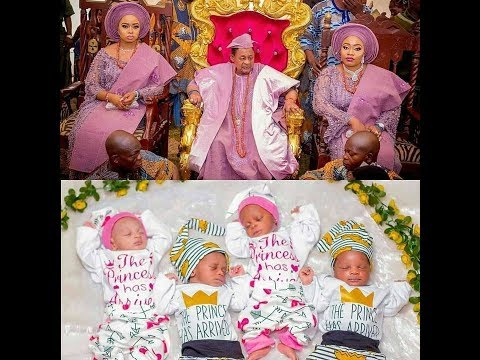 Alaafin of Oyo throws Lavish Naming Ceremony For His 2 Sets of Twins