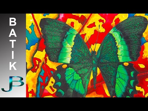 BATIK SILK PAINTING WITH JEAN-BAPTISTE – FINE ART –  BUTTERFLY