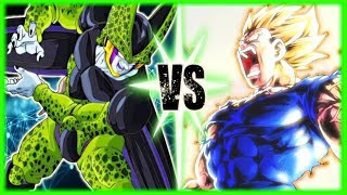Perfect Cell Vs Majin Vegeta Part 3