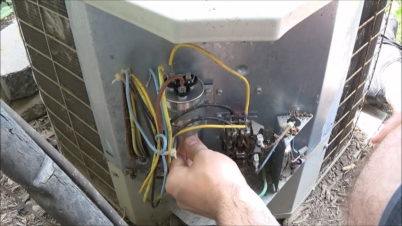 Bryant 561CJ030-B Fan Not Spinning Air Conditioner Capacitor Repair