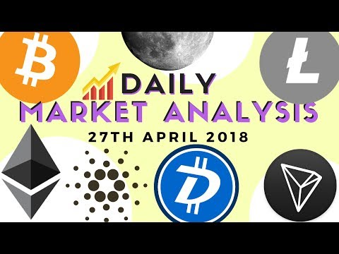 Daily Market Analysis - BTC, ETH, LTC, ADA, DGB and Tron