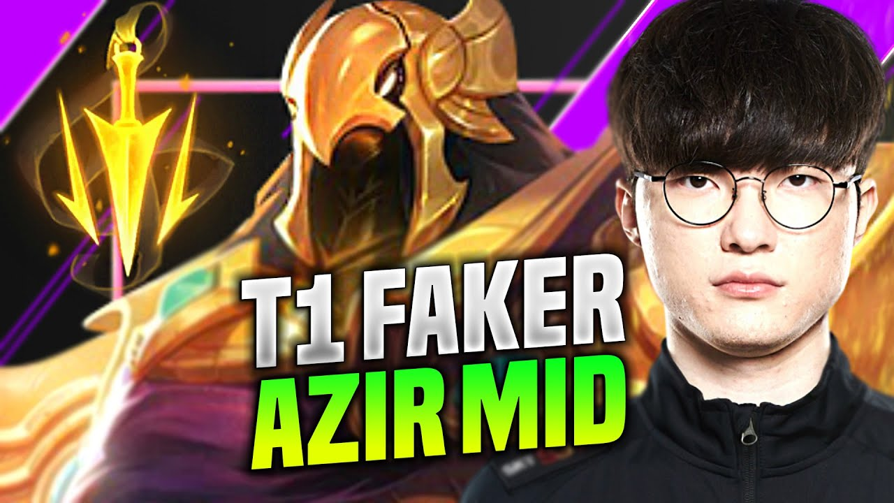 FAKER IS SO GOOD WITH AZIR! - SKT T1 Faker Plays Azir Mid vs Kassadin! | KR SoloQ Patch 10.14
