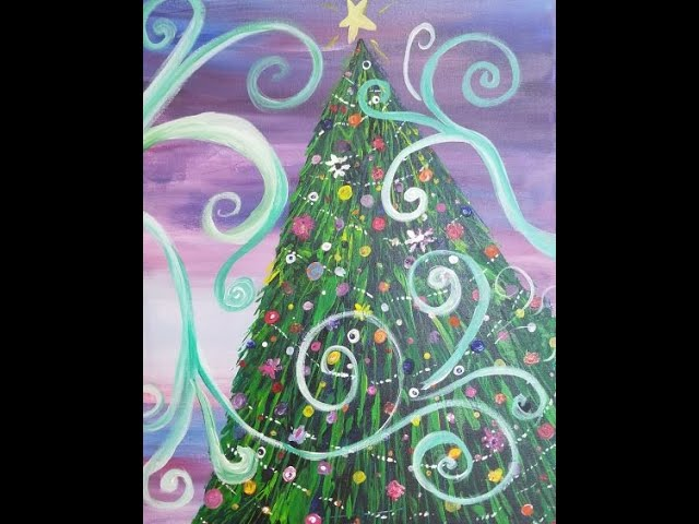 Tipsy Paint Christmas Tree