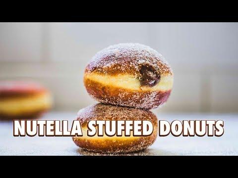 Nutella Stuffed Donuts (Bomboloni)