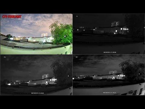 Камеры с функцией ЦВЕТНОГО ночного видения! Starlight от CTV.