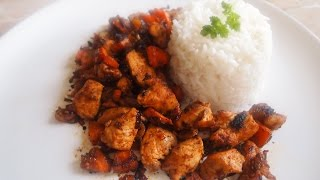 498 CALORIES - LUNCH or DINNER - SPICY, TASTY CHICKEN & RICE (100DTP - Low Calorie Dishes at Home)