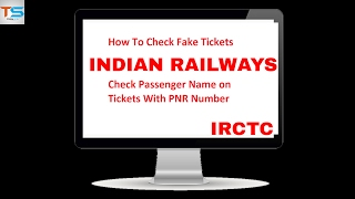 Check Passenger Name on Ticket with PNR Number   Fake Ticket   Indian Railways