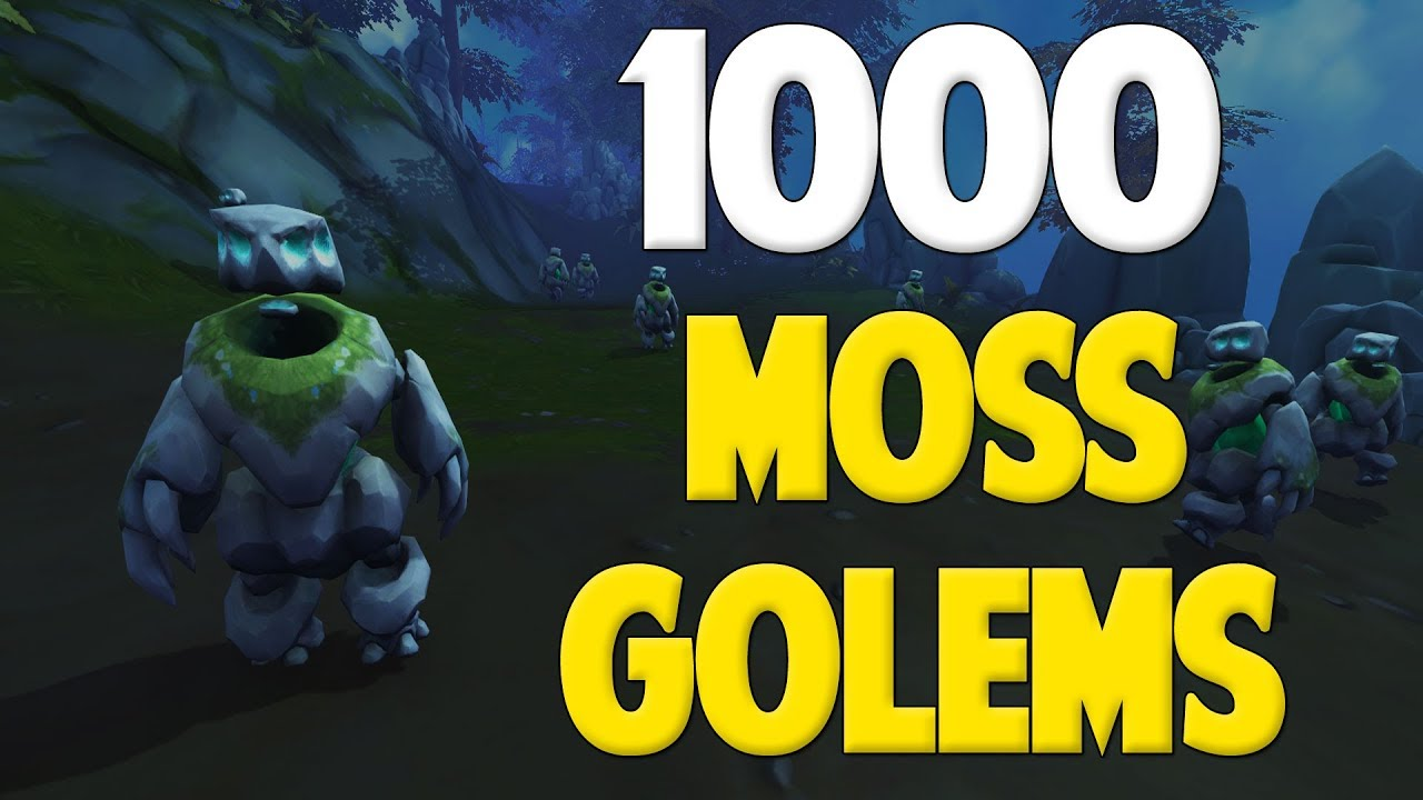 Runescape 2017 Loot From 1000 Moss Golems Youtube