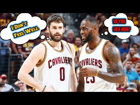Lebron and Cavs Accuse Kevin Love of Faking Being Sick vs OKC? Say What?