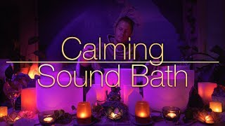 432Hz - Calming Crystal Singing Bowls - Sound Bath (No Talking, 4K) Sleep, Heal