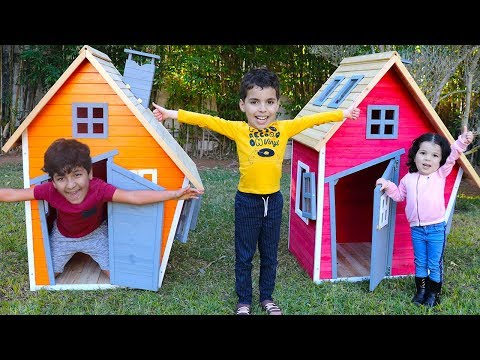 Adel and sami play with funny Playhouses toys, videos for kids , LES BOYS TV